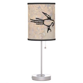 Macaw Petroglyph, Boca Negra Canyon, New Mexico Table Lamp