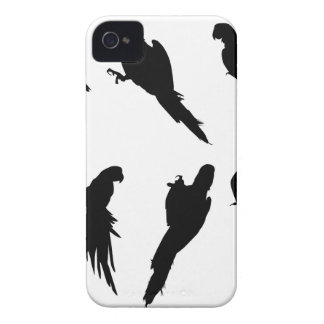 Macaw Silhouette Set Case-Mate iPhone 4 Case