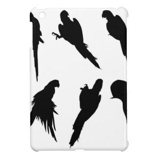 Macaw Silhouette Set iPad Mini Covers