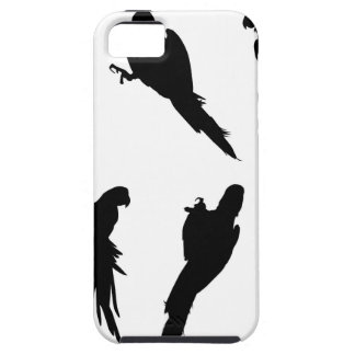 Macaw Silhouette Set iPhone 5 Cases