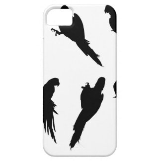 Macaw Silhouette Set iPhone 5 Covers