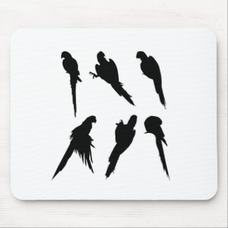 Macaw Silhouette Set Mouse Pad