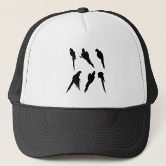 Macaw Silhouette Set Trucker Hat