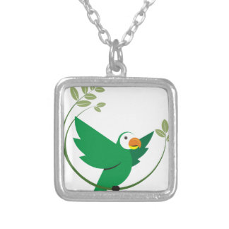 MACAW SILVER PLATED NECKLACE