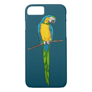 Macaw Sitting on Branch iPhone 8/7 Case