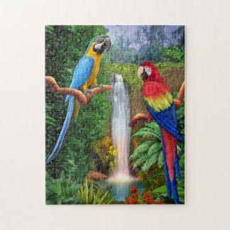 Macaw Tropical Parrots Jigsaw Puzzle