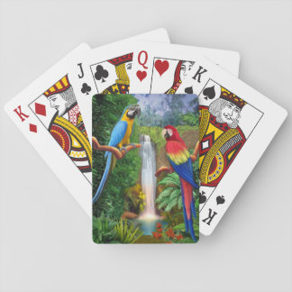Macaw Tropical Parrots Playing Cards