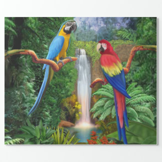 Macaw Tropical Parrots Wrapping Paper