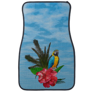 Macaw With Tropical Foliage Car Mat