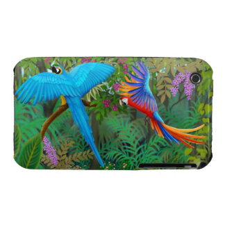 Macaws in Central American Jungle iPhone 3 Case-Mate Case
