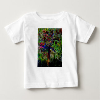 Macaws In Tropical Paradise At Night Baby T-Shirt