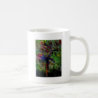 Macaws In Tropical Paradise At Night Coffee Mug