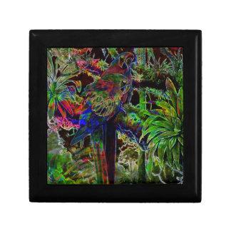 Macaws In Tropical Paradise At Night Keepsake Box