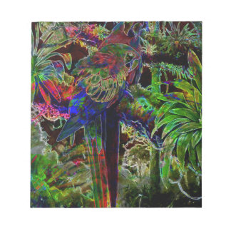 Macaws In Tropical Paradise At Night Notepad