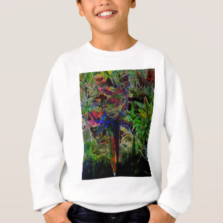 Macaws In Tropical Paradise At Night Sweatshirt