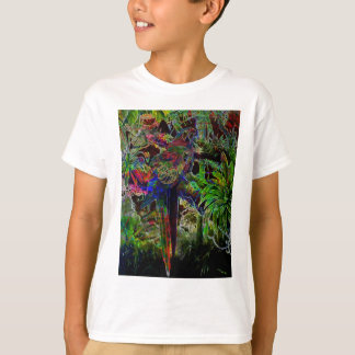 Macaws In Tropical Paradise At Night T-Shirt