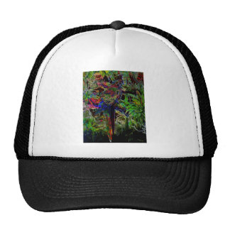 Macaws In Tropical Paradise At Night Trucker Hat