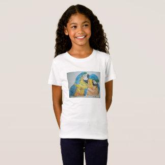 Macaws Parrots watercolor T-shirt