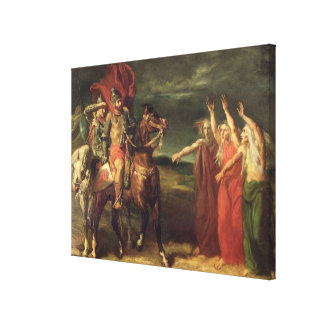 Macbeth and the Three Witches, 1855 Stretched Canvas Prints