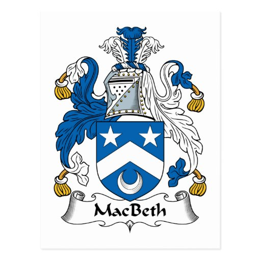 MacBeth Family Crest Postcard