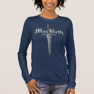 MacBeth in Navy blue Long Sleeve T-Shirt