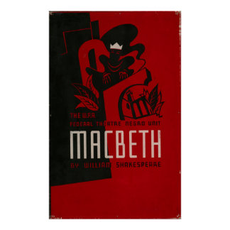 Macbeth Negro Theatre 1937 WPA Vintage Poster