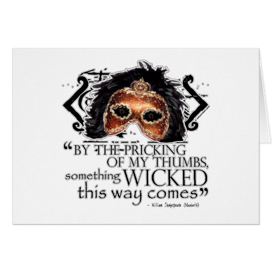Macbeth Quote Card