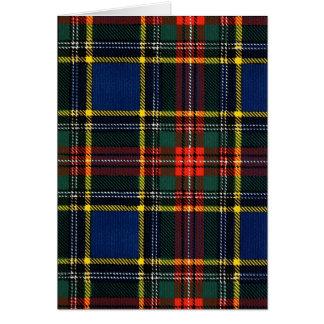 Macbeth Tartan Card