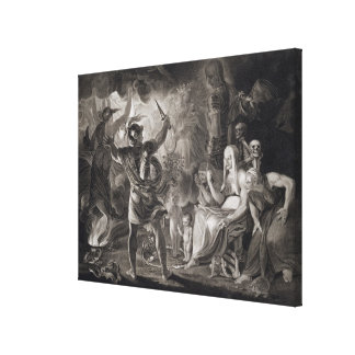 Macbeth, the Three Witches and Hecate in Act IV, S Stretched Canvas Print