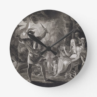 Macbeth, the Three Witches and Hecate in Act IV, S Wallclocks