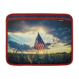 MacBook Air Case Sunset behind the American Flag MacBook Sleeve