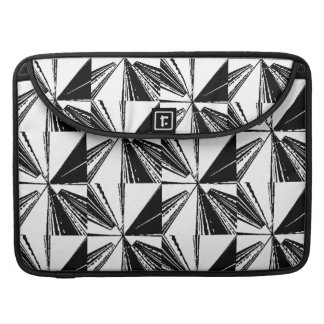 "Macbook Pro 15"" Sleeve Black White Padded Modern"