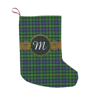 MacBride Tartan And Monogram Small Christmas Stocking