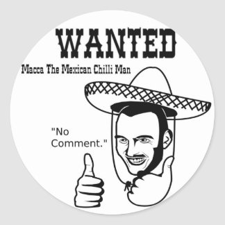 Macca Mexican Chilli Man Classic Round Sticker
