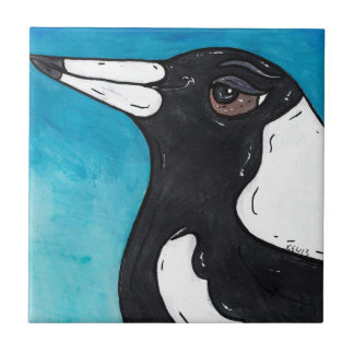 Macca the Magpie Ceramic Tile