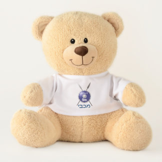 Maccabee Shield And Spears Teddy Bear