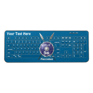 Maccabee Shield And Spears Wireless Keyboard