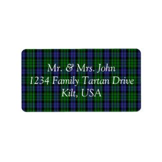 MacCallum Tartan Label