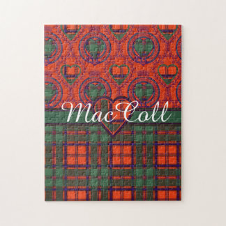 MacColl clan Plaid Scottish kilt tartan Jigsaw Puzzle
