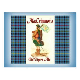 MacCrimmon's Old Piper's Ale Postcard