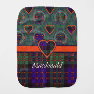 Macdonald clan Plaid Scottish tartan Baby Burp Cloths