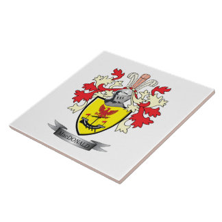 MacDonald Family Crest Coat of Arms Tile