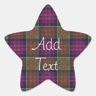 MacDonald of Clanranalld Scottish Tartan Star Sticker