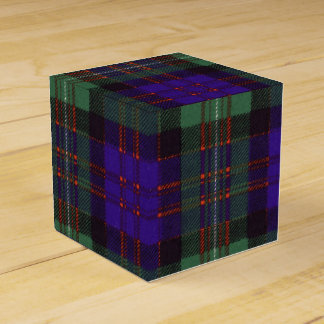 Macdonald of Glengarry clan Plaid Scottish tartan Favor Box