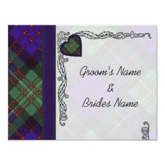 MacDonald of Glengarry Scottish Heart design Card