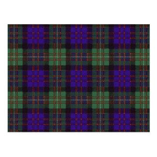 MacDonald of Glengarry Scottish Tartan pattern Postcard