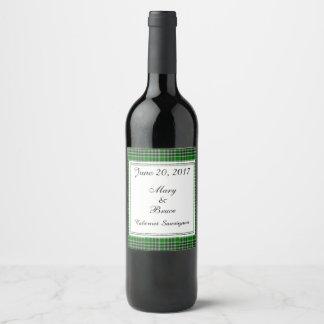 MacDonald Of The Isles Ancient Scottish Tartan Wine Label