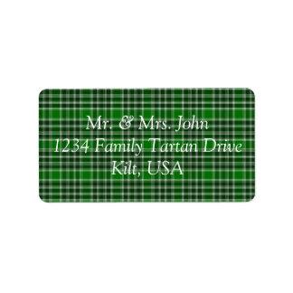 MacDonald Of The Isles Ancient Tartan Label