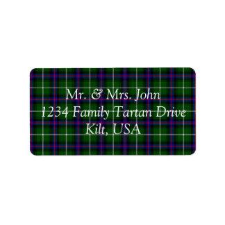 MacDonald Of The Isles Tartan Label