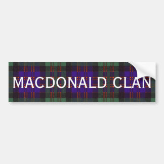 MacDonald Scottish Tartan Bumper Sticker